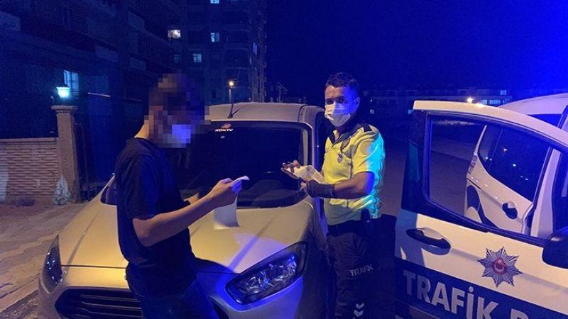 Polisten kaçan ehliyetsiz sürücü koronavirüslü çıktı