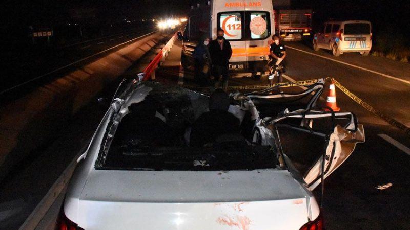 Düğün yolunca korkunç kaza! 2 kişi öldü