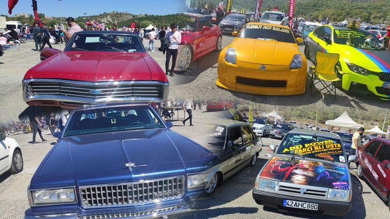 Modifiye araç tutkunları Konya'da buluştu