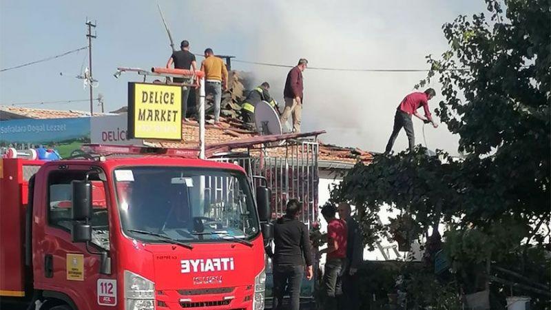 Ereğli'de yangın! Bir ev iki markette büyük korku