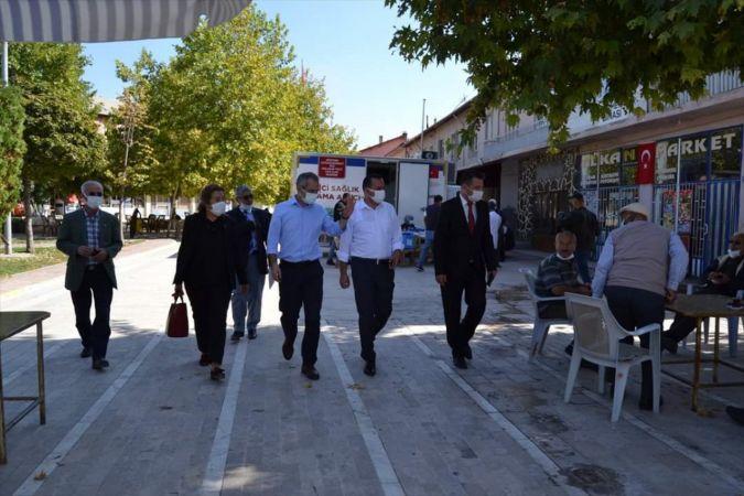 Seydişehir Kaymakamı Pişkin, Ortakaraören Mahallesinde ziyaretlerde bulundu