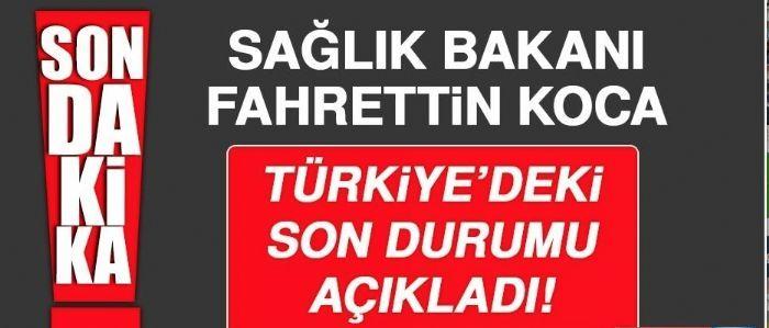 SON DAKİKA!! Sağlık Bakanı Fahrettin Koca son verileri açıkladı.. Türkiye'de Korona Virüsten hayatını kaybedenlerin sayısı 6.417'ye yükseldi..