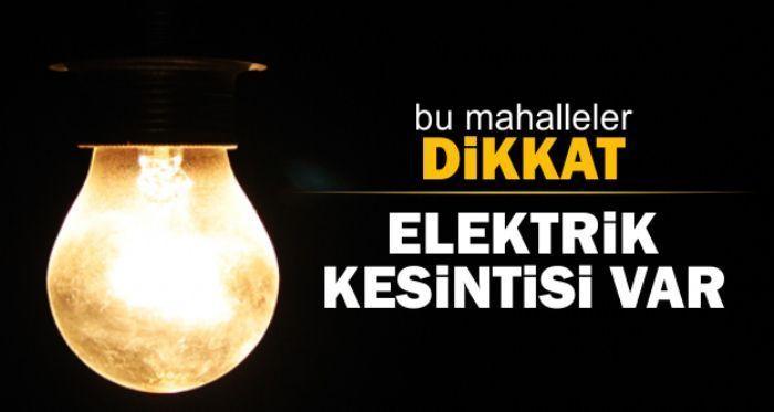 Dikkat! Elektrik kesintisi var…