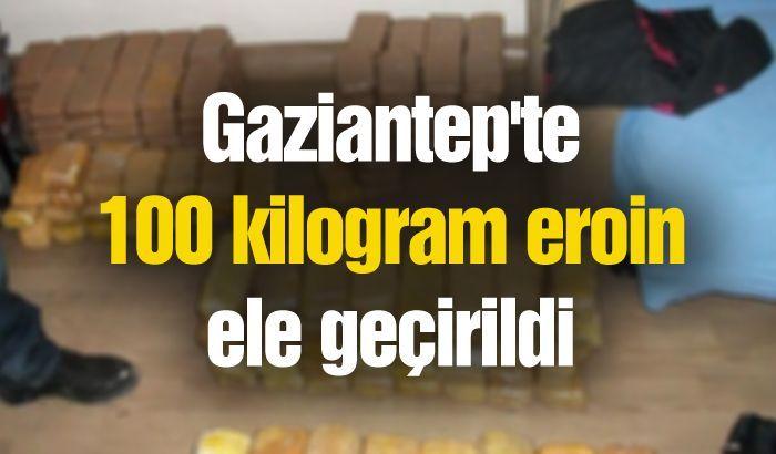 Gaziantep'te 100 kilogram eroin ele geçirildi