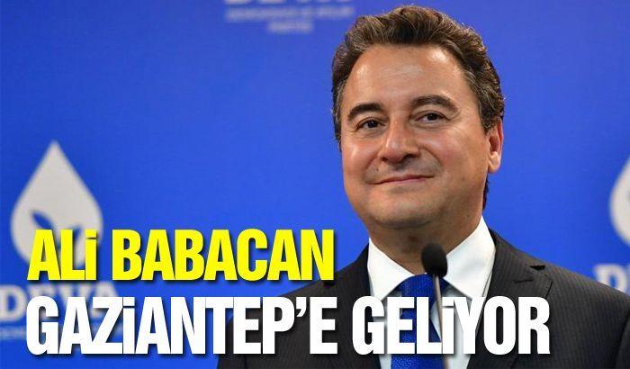 Ali Babacan Gaziantep'e Gelecek...