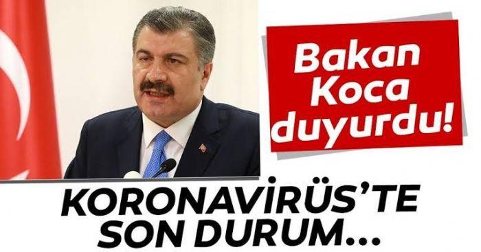 TÜRKİYE'DE 10 EYLÜL CORONA VİRÜS TABLOSU..