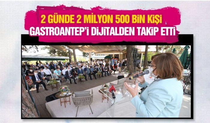 2 GÜNDE 2 MİLYON 500 BİN KİŞİ GASTROANTEP'İ DİJİTALDEN TAKİP ETTİ