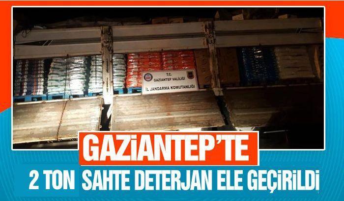 Gaziantep'te 2 ton  sahte deterjan ele geçirildi