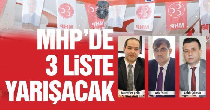 MHP'de 3 liste yarışacak