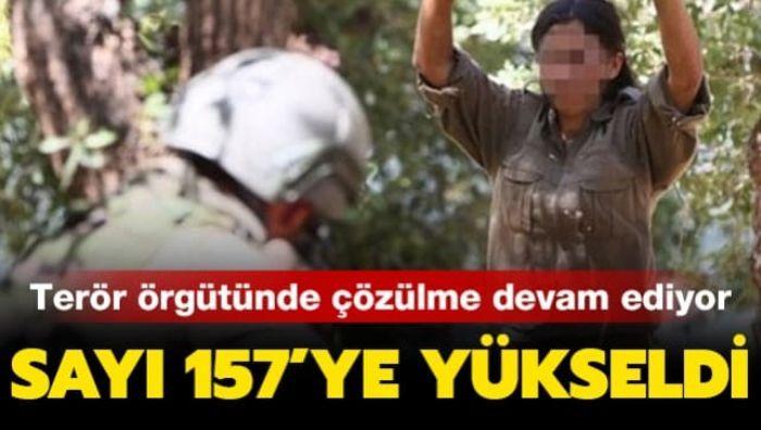 İçişleri Bakanlığı duyurdu: 157'ye yükseldi