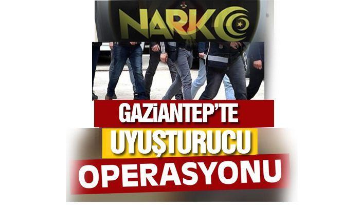 Gaziantep'te uyuştucu suçundan 32 şüpheli yakalandı