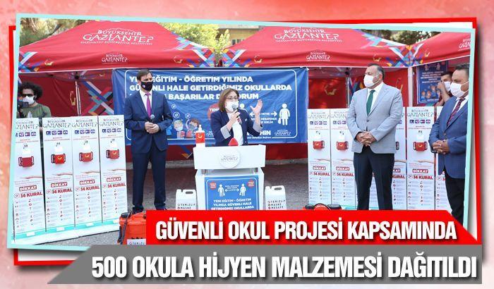GÜVENLİ OKUL PROJESİ KAPSAMINDA 500 OKULA HİJYEN MALZEMESİ DAĞITILDI