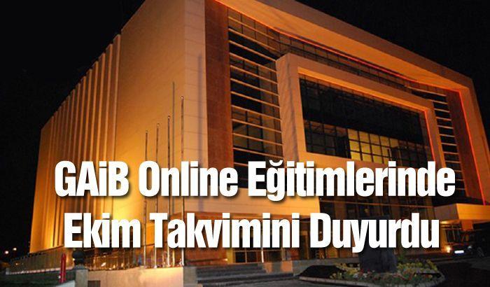 GAİB Online Eğitimlerinde Ekim Takvimini Duyurdu