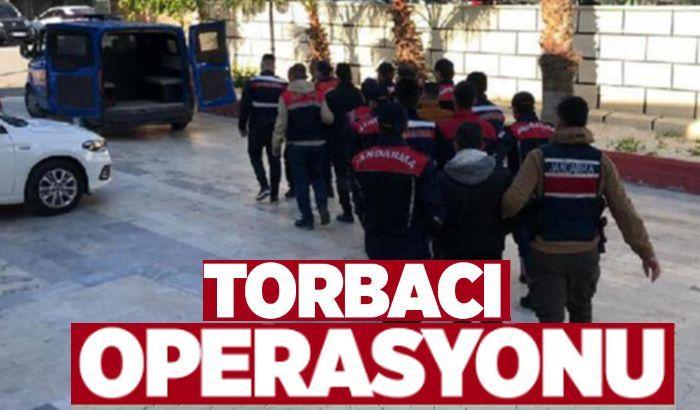"""Gaziantep'te 950 polisin katılımıyla """"torbacı"""" operasyonu"""