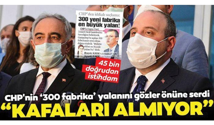 Bakan Varank'tan CHP'nin 300 fabrika yalanına tepki