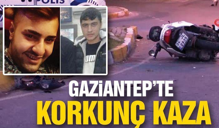 Gaziantep'te devrilen motosikletteki 2 genç hayatını kaybetti