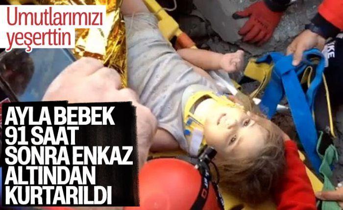4 yaşındaki Ayla Gezgin, 91'inci saatte enkazdan sağ çıkarıldı.