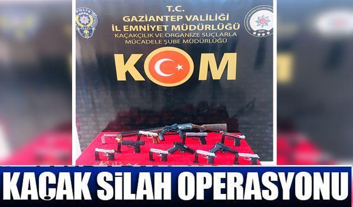 Gaziantep ve Adıyaman'da kaçak silah operasyonu: 10 gözaltı