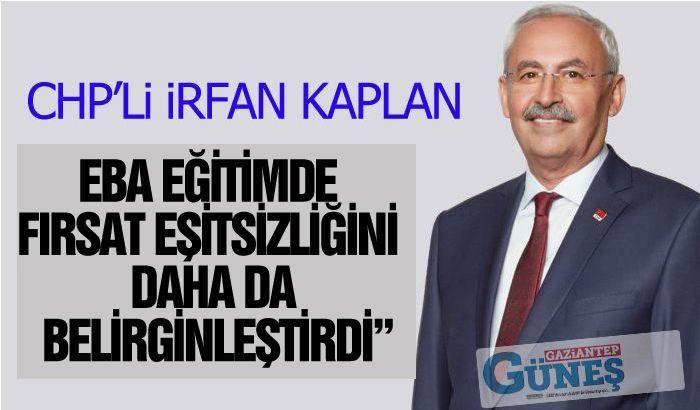 """""""EBA EĞİTİMDE FIRSAT EŞİTSİZLİĞİNİ DAHA DA BELİRGİNLEŞTİRDİ"""""""