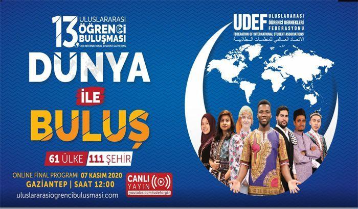 13'üncü uluslararası öğrenci buluşmaları Gaziantep'te