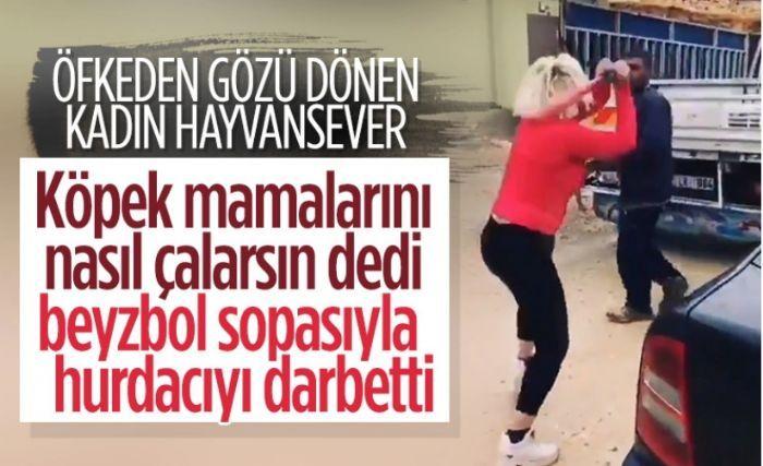 Gaziantep'te köpek mamalarını ve kaplarını çalan hurdacı, hayvansever tarafından dövüldü