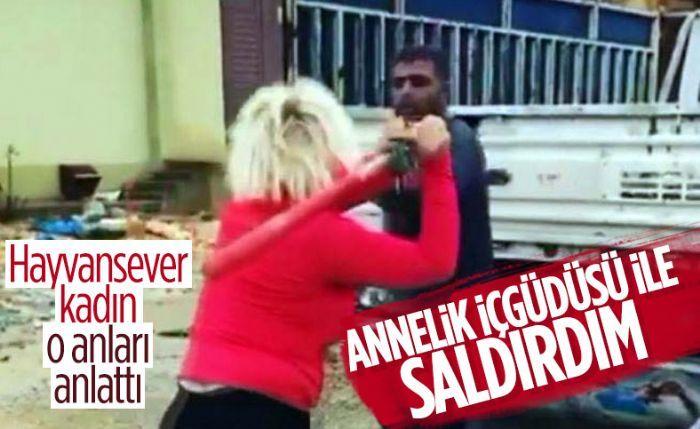 Gaziantep'te köpeklerin mamasını çalan hurdacıyı darbeden kadın konuştu