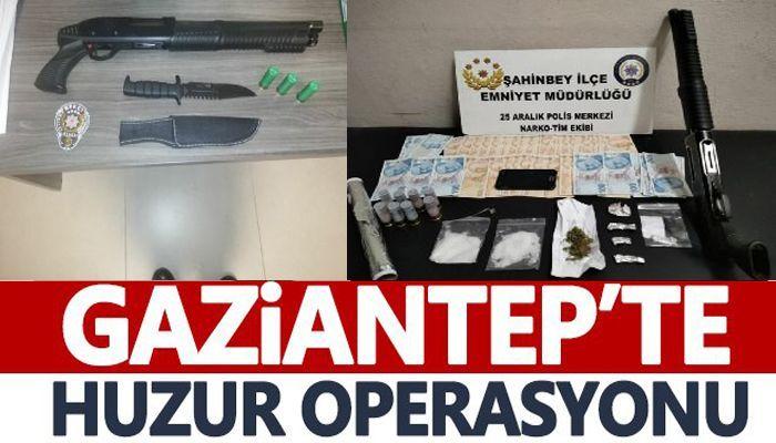 Gaziantep'te huzur operasyonu: 118 kişiye işlem