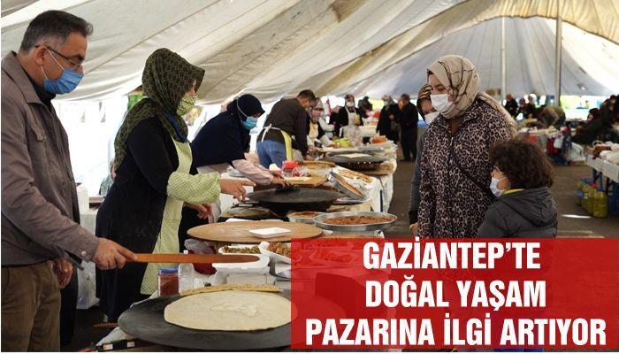 GAZİANTEP'TE DOĞAL YAŞAM' PAZARINA İLGİ ARTIYOR