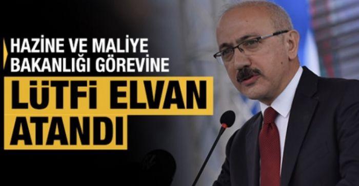 Cumhurbaşkanı Kararı ile Hazine ve Maliye Bakanlığı görevine Lütfi Elvan atandı.