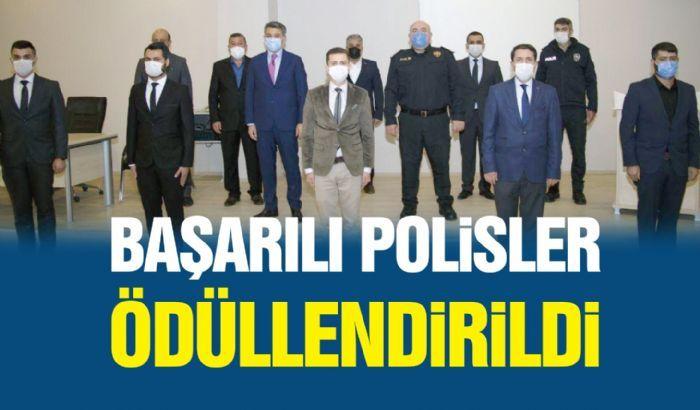 BAŞARILI POLİSLER ÖDÜLLENDİRİLDİ.