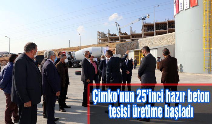 Çimko'nun 25'inci hazır beton tesisi üretime başladı