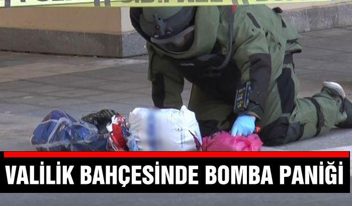 Gaziantep Valiliği bahçesinde bomba paniği....