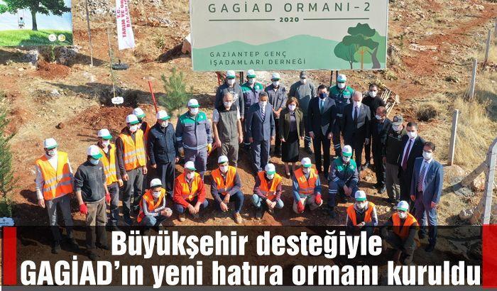 Büyükşehir desteğiyle GAGİAD'ın yeni hatıra ormanı kuruldu