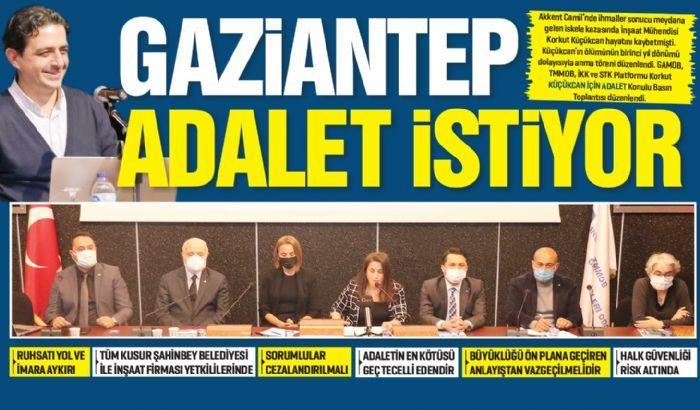 GAZİANTEP ADALET İSTİYOR