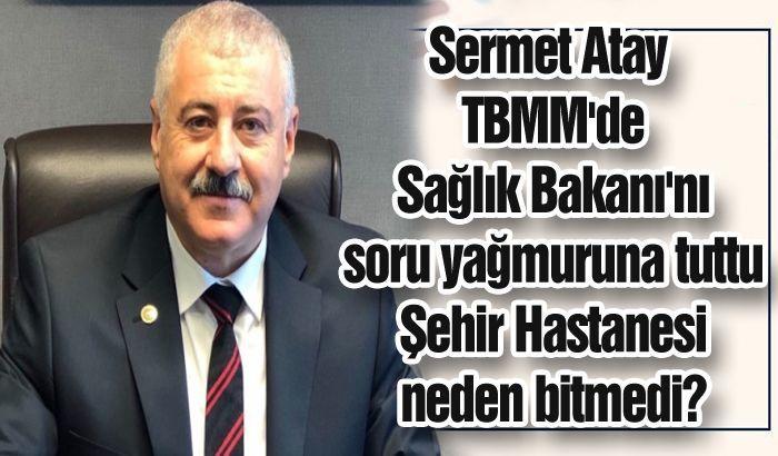 Sermet Atay TBMM'de Sağlık Bakanı'nı soru yağmuruna tuttu. Şehir Hastanesi neden bitmedi?