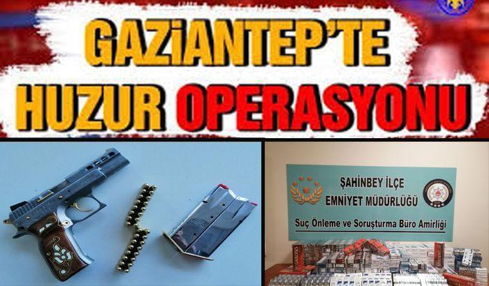 Gaziantep'te huzur operasyonu: 162 kişiye işlem