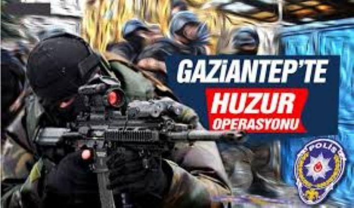 Gaziantep'te huzur operasyonu: 165 kişiye işlem