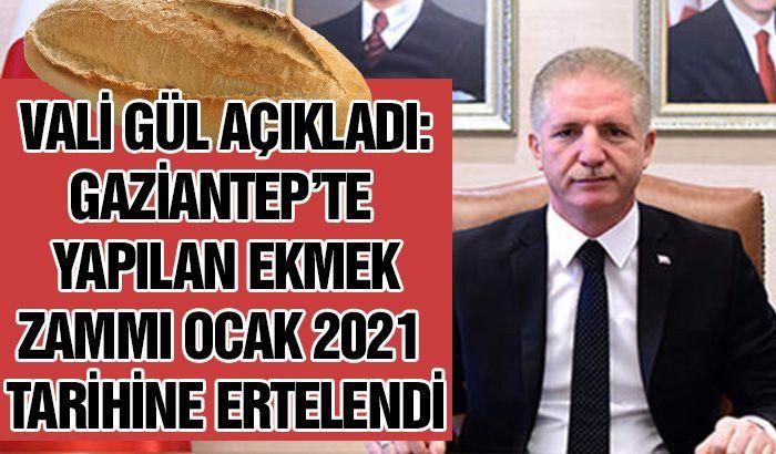 Vali Gül'den ekmek zammı açıklaması