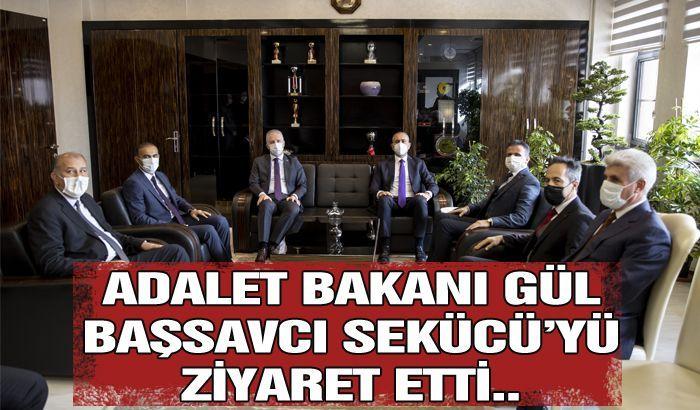 Adalet Bakanı Abdulhamit Gül, Gaziantep Cumhuriyet Başsavcısı Önder Kemal Sekücü'yü ziyaret etti