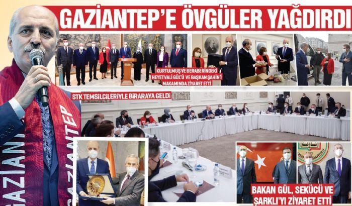 Kurtulmuş, Gaziantep'e övgüler yağdırdı