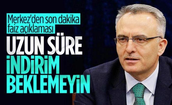 Naci Ağbal: Faiz indirimini uzun süre gündeme almayacağız