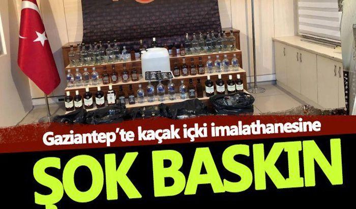 Gaziantep'te kaçak içki operasyonu