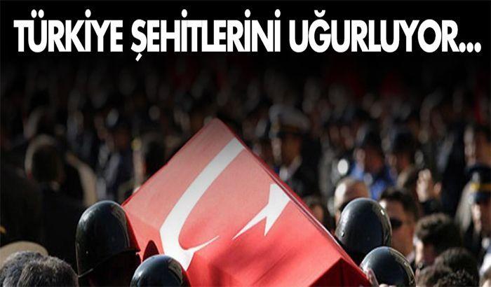 Türkiye ve Gaziantep Şehitlerini uğurluyor...