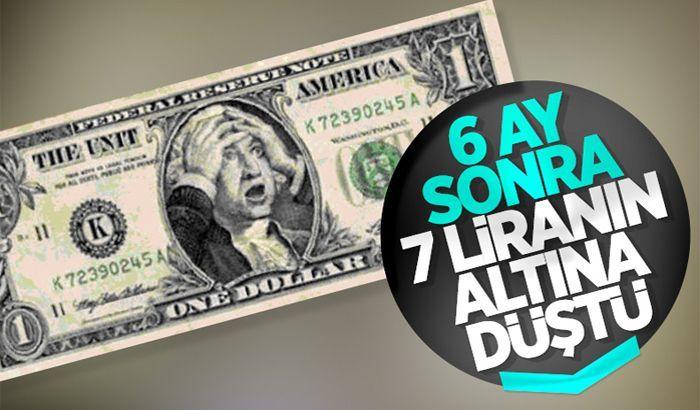Dolar, 6 ay sonra 7 liranın altına düştü