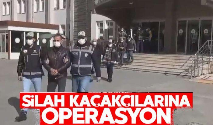 Silah kaçakçılarına operasyon: 6 kişi tutuklandı