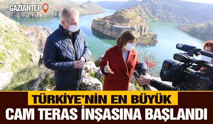 Türkiye'nin en büyük cam terasının inşasına başlandı