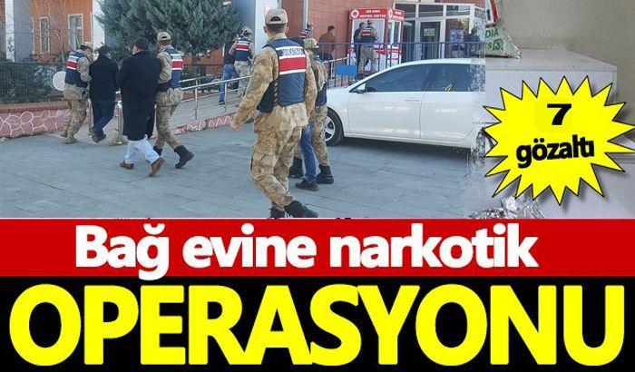 Gaziantep'te bağ evinde uyuşturucu kullanan 7 şüpheli suçüstü yakalandı