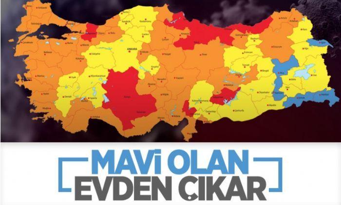 Türkiye'nin koronavirüs risk haritası