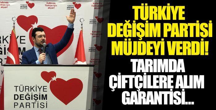 Türkiye Değişim Partisi Genel Başkan Yardımcısı Fırat Bozfırat: 'Tarımda çiftçiye alım garantisi vereceğiz'