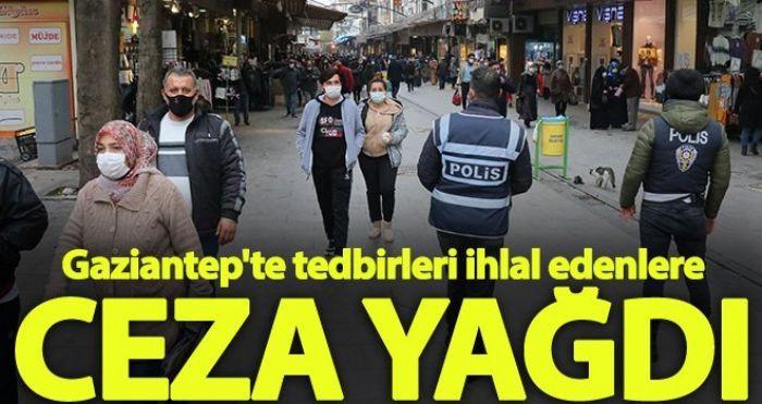 Gaziantep'te Kovid-19 tedbirlerini ihlal eden 297 kişiye para cezası